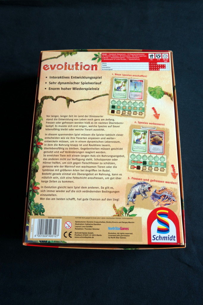 Box Evolution Brettspiel Kartenspiel Boardgame Cardgame