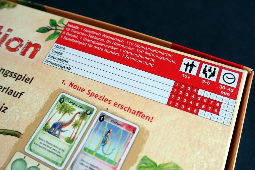 Infos Evolution Brettspiel Kartenspiel Boardgame Cardgame Box