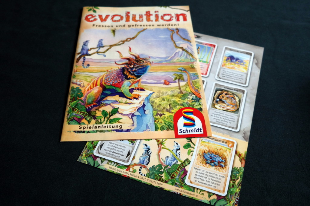 rules Evolution Brettspiel Kartenspiel Boardgame Cardgame Box