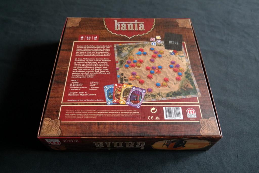back cover Bania Boardgame Brettspiel Mattel