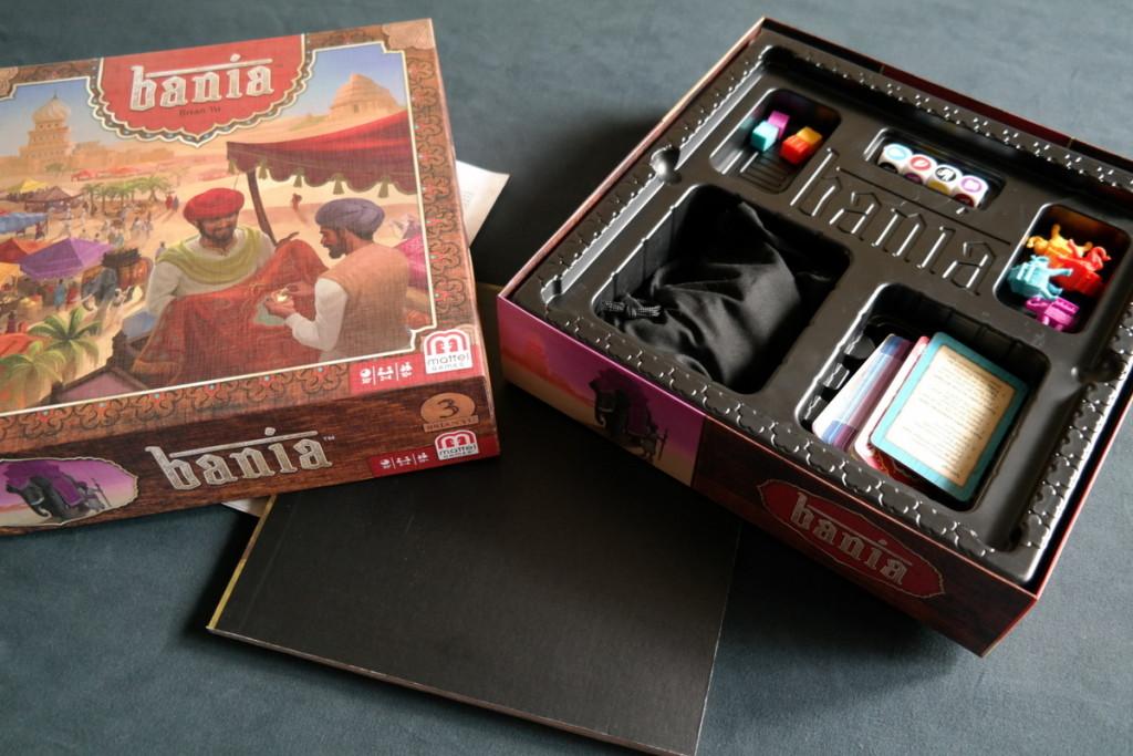 contents Bania Boardgame Brettspiel Mattel