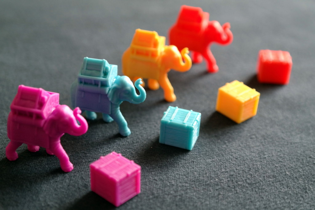 Bania Boardgame Brettspiel Mattel elephants
