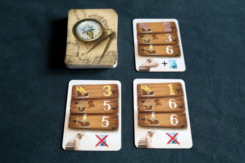 Black Fleet Boardgame Brettspiel cards