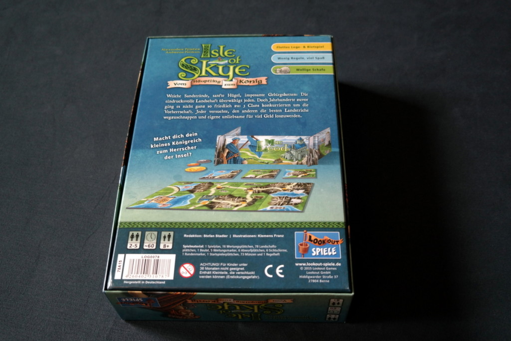 Isle of Skye Brettspiel Boardgame back