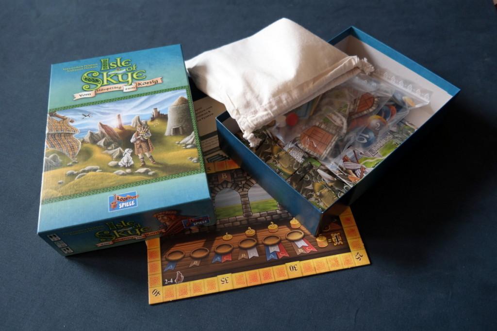 Isle of Skye Brettspiel Boardgame material